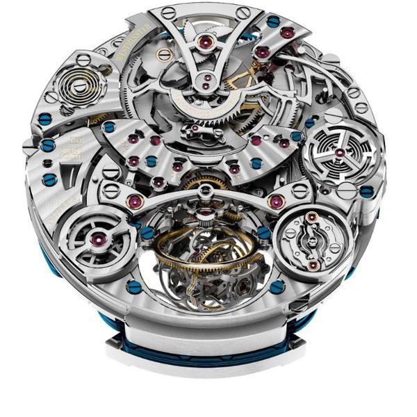 积家Master Grande Tradition Gyrotourbillon Westminster Perpétuel超卓传统大师系列球型陀飞轮西敏寺钟乐万年历腕表 (机芯背面)