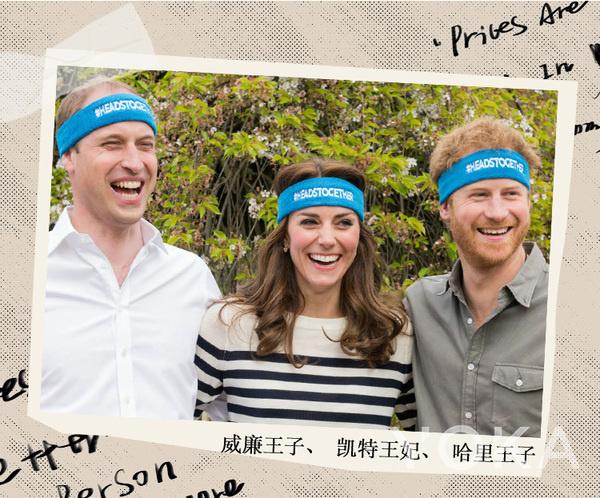 威廉王子、凯特王妃和哈里王子