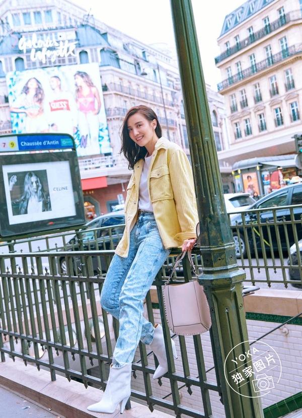 宋佳巴黎街拍