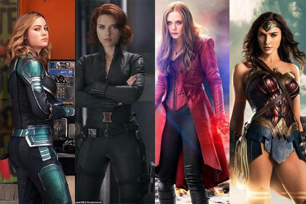 惊奇队长、黑寡妇、猩红女巫、神奇女侠  图片来源:pinterest