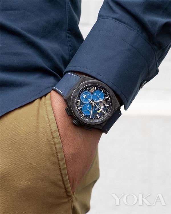 单品推荐:真力时DEFY 21 帕特里克•莫拉托鲁限量款腕表(图片来源于品牌)