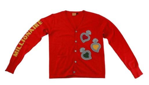 "Whensmokeclears® Radiant Varsity Cardigan ""Fire Heart"" Cardigan"