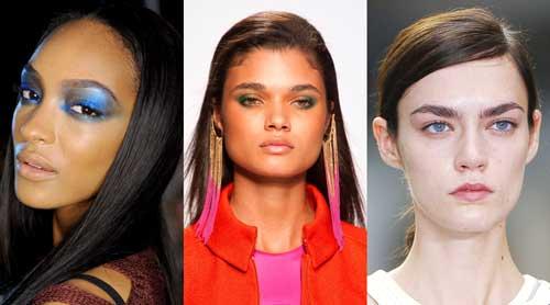 对应各类闪亮色彩服饰的不同眼妆