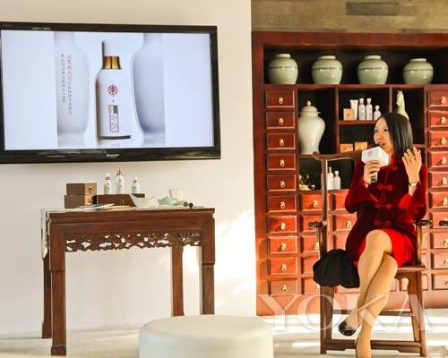 宝洁全球尊贵顾客策略及革新业务总裁黄文丽女士演说东方季道品牌源起及品牌理念。