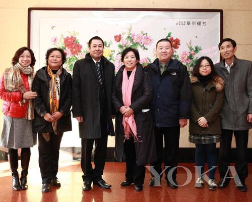佳丽宝(中国)中村泰总经理与北京市妇联王淑存副主席及相关人员