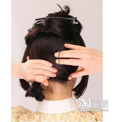 短发也能梳编发 洋气短发造型(38)