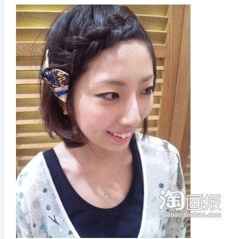 日本美女店员 超漂亮发型发饰秀