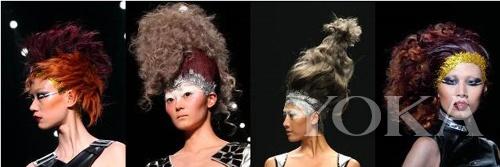 暖色系造型 混搭色系立体造型 蓬松复古卷发