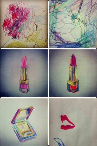 花艺创意设计及手绘图