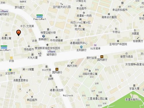 首尔江南区地图
