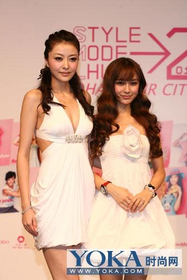 熊黛林(左)和Angelababy(右)