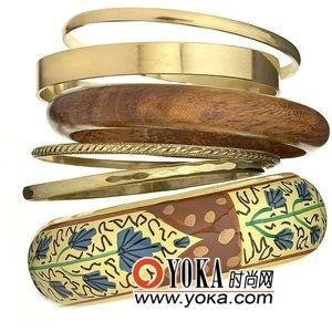 木质花纹金属手环¥456