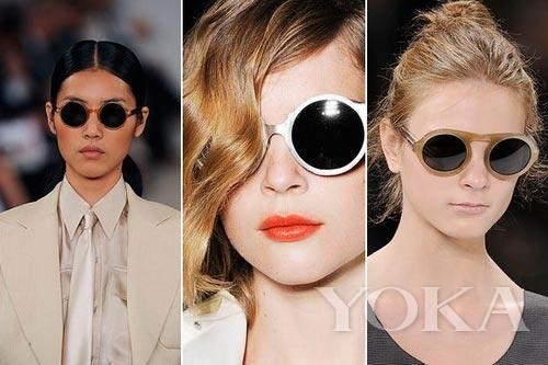 T台圆眼镜展示