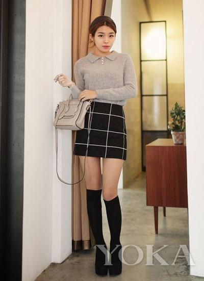 少女留一半袜子模仿性感武装美女就得穿图片