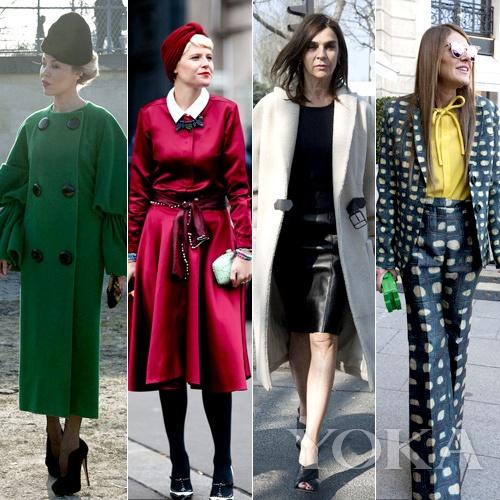 时尚编辑征战巴黎 出位抢镜靠街拍