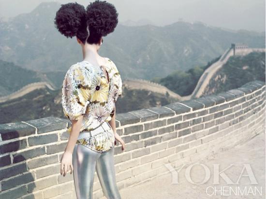 未来主义的吕燕回望长城