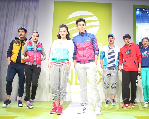 彭于晏与Angelababy压轴走秀展示adidas NEO Label 2012秋冬新品