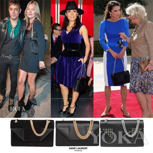 左 Kate Moss 中 Salma Hayek 右 约旦王后