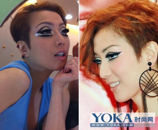 郑秀文今年演唱会的亮片媚眼妆前卫有型