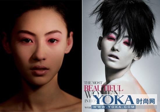 张柏芝著名的红眼妆也是出自阿zing之手