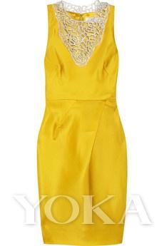 Lela Rose透明丝质硬纱礼服