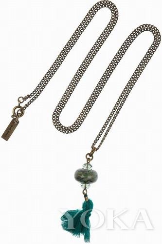 Isabel Marant对玉丝绸项链