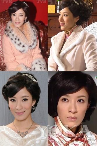 《名媛望族》饰演好胜,占有欲极强的四姨太康子君,剧中皮草大衣与旗袍