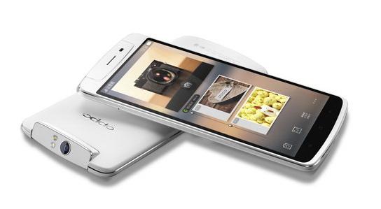 OPPO N1,全球首款配备旋转摄像头的大屏智能手机