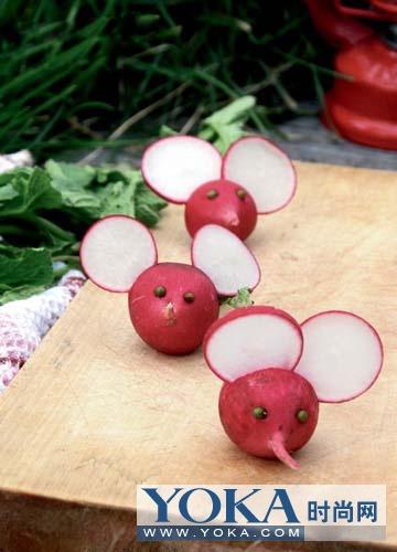萝卜做动物的造型图片