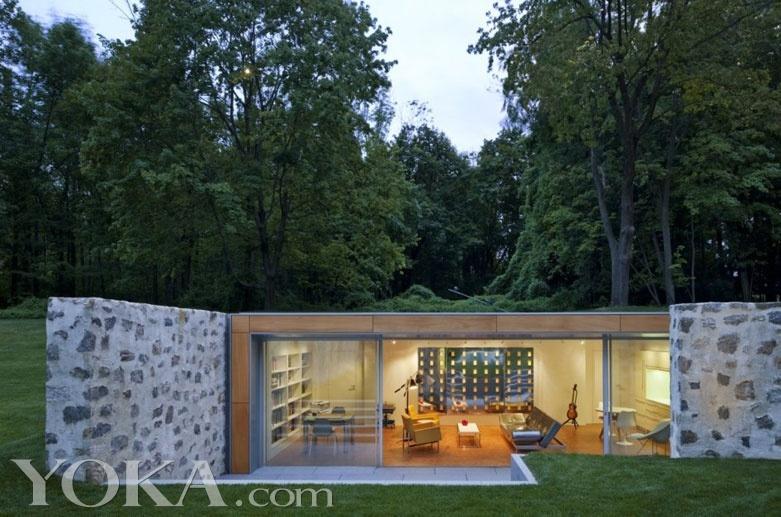美国乡村 带玻璃亭的自然别墅 美好家居