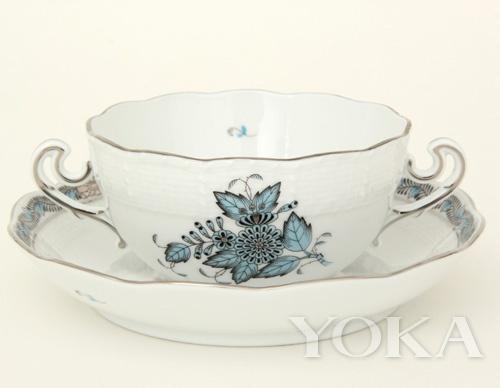 阿波尼-茶杯杯碟-蓝色
