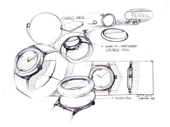 25个手表设计草图曝光