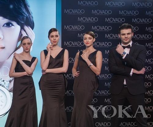 模特展示摩凡陀2013新款腕表