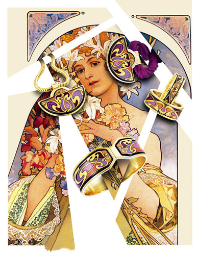 Frey Wille系列珠宝源于Alphonse Mucha慕夏作品