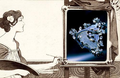 René Lalique新艺术风格孔雀胸针