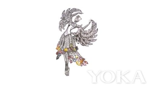 Isadora 耳夹 彩色钻石、公主方形切割钻石等
