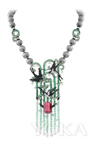 Hirondelles 项链及可拆卸胸针