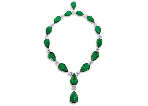 格拉夫祖母绿宝石项饰