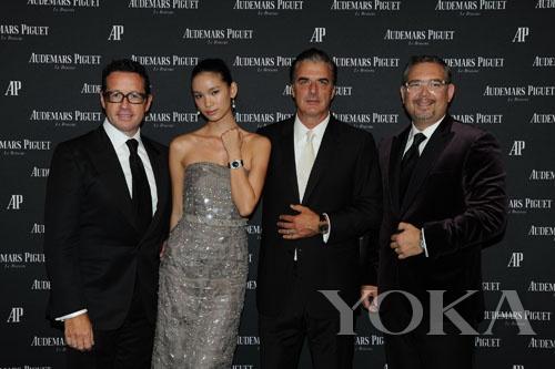 行政总裁Francois-Henry Bennahmias,康倩雯,Chris Noth和亚洲总裁Oliviero Bottinelli