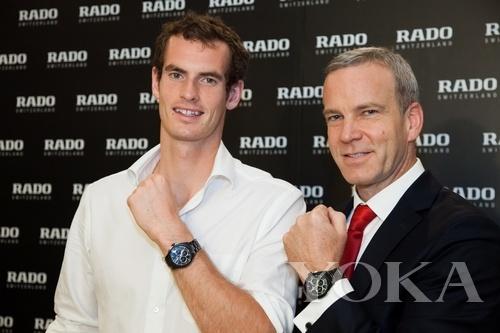 雷达表全球品牌代言人安迪·穆雷与品牌总裁Matthias Breschan先生