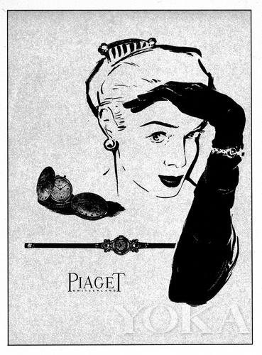 伯爵40年代的广告