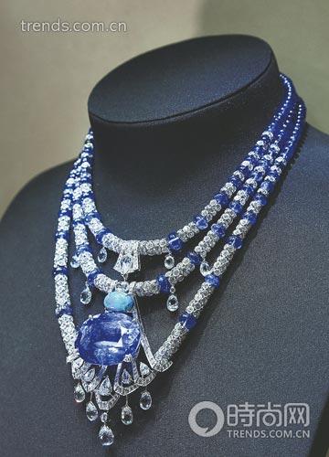 卡地亚全新高级珠宝系列蓝宝石项链