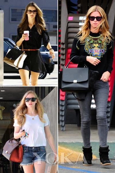 Alessandra Ambrosio、Amanda Seyfried、Nicky Hilton