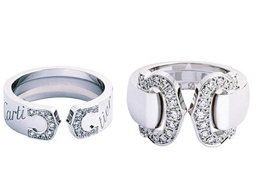 Cartier Logo钻石戒指
