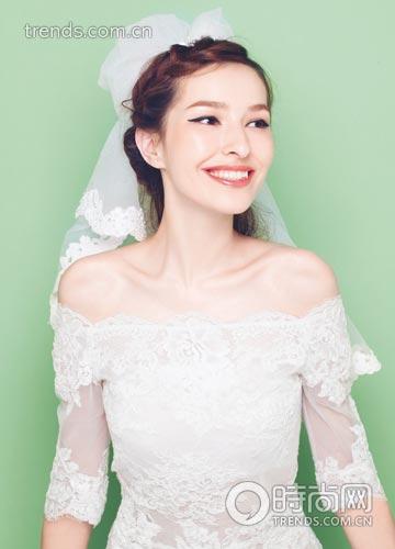 清新/校园风清新乖巧的新娘发型