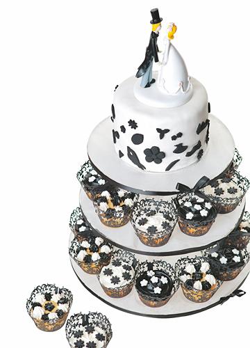 独特品位的婚礼涂鸦蛋糕
