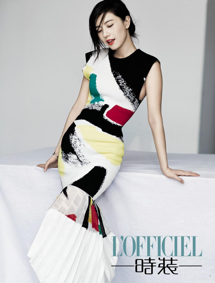 高圆圆登时尚杂志封面