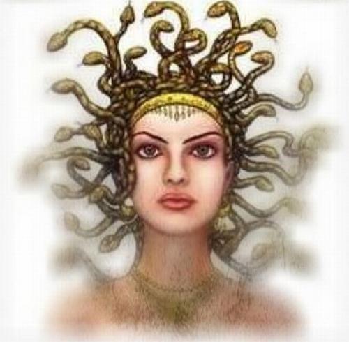 章子怡模仿希腊神话中的女妖美杜莎图片