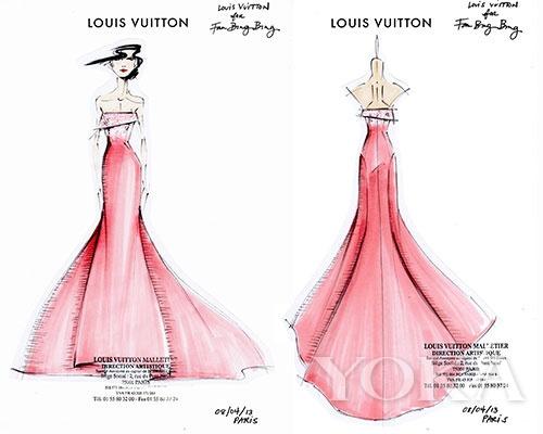 设计的礼服手稿