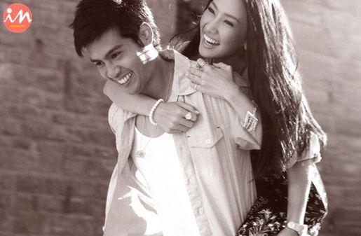 泰国第一美女和男友写真
